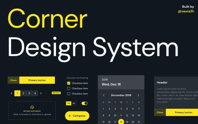 Corner Design Figma System