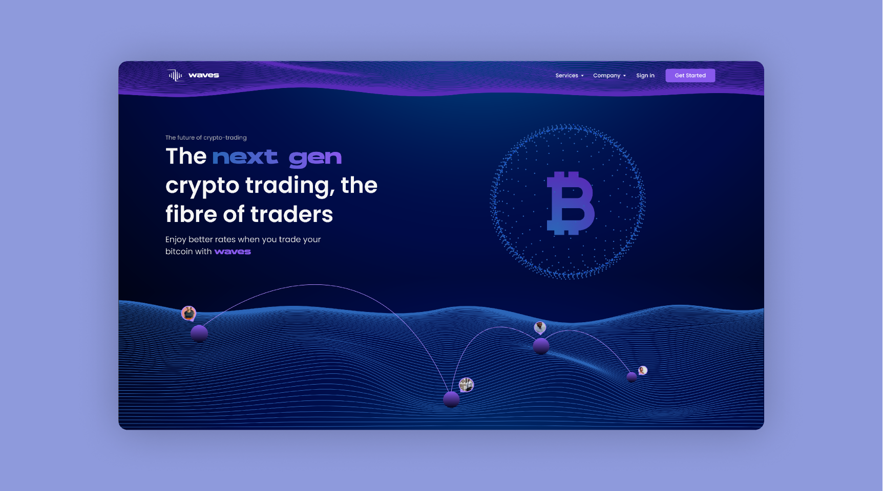 Crypto Currency Landing Page - Waves