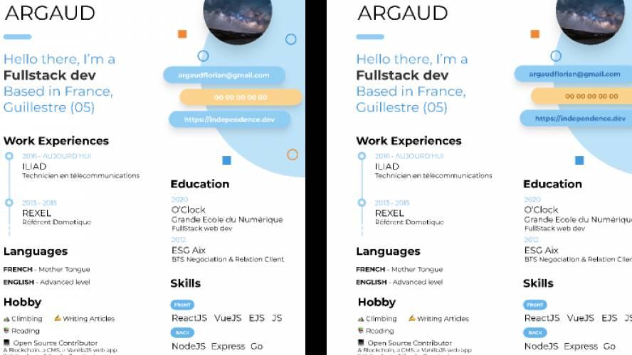 CV / Resume - A4 - Print Ready (Figma template)