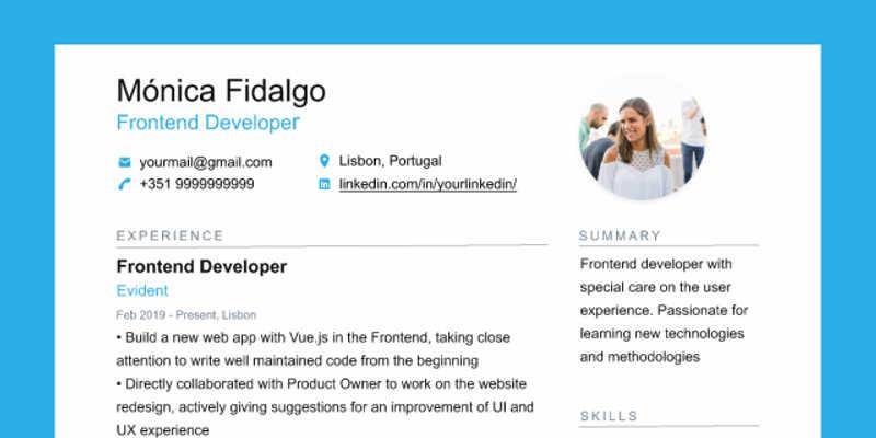 CV / Resume Figma Template