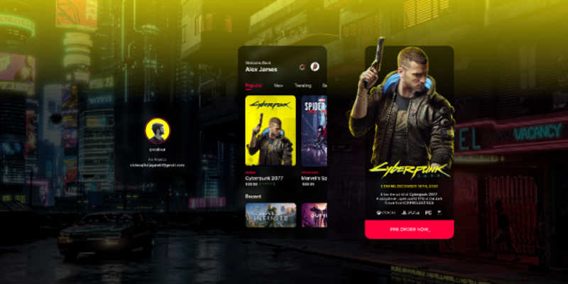 CyberPunk App Ui Concept Figma