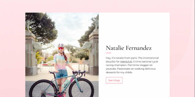 Cyclist Webpage Figma Free