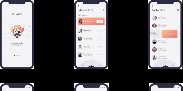 D-Caller Mobile UI Kit figma