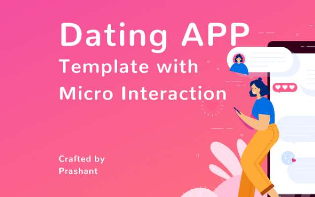 Dating APP Template with Micro Interaction figma