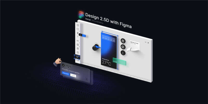Design 2.5D with figma templates