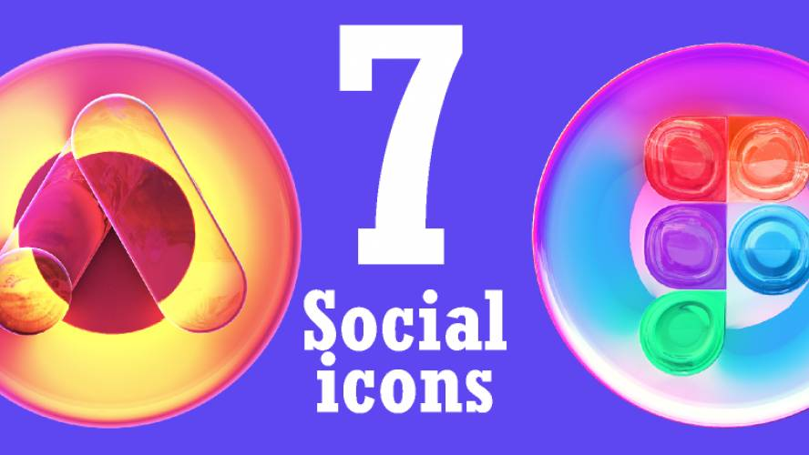 Design services Icons 3D Glassmorphism figma