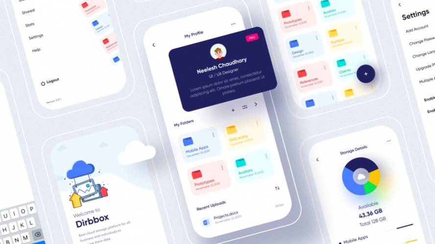 Dirbbox Online Cloud Storage figma