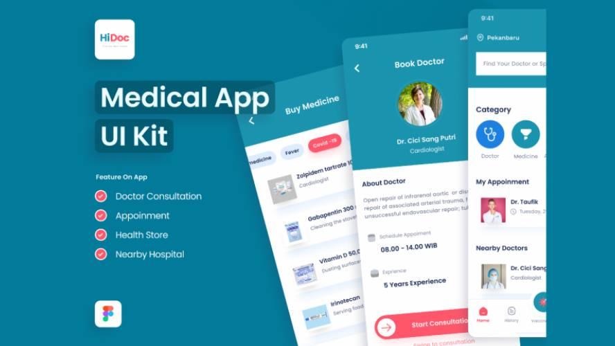 Doctor App Community Figma Template