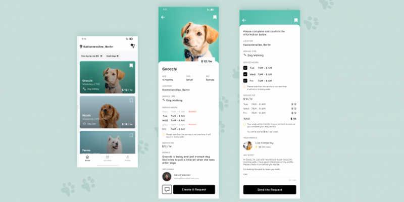 Dog Walk App Figma Free