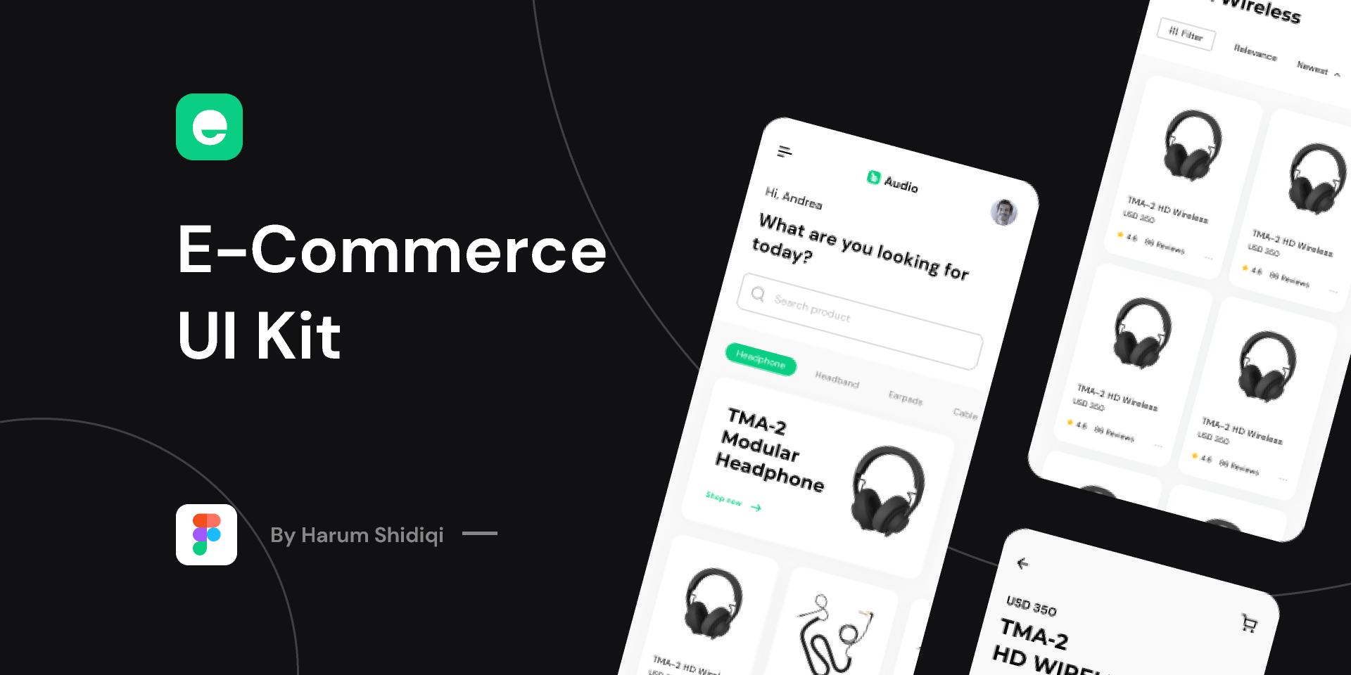 E-Commerce UI Kit Free (Figma template)