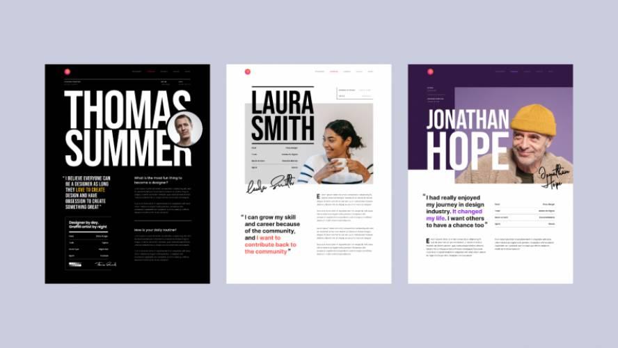 Editorial Design Figma Free Template
