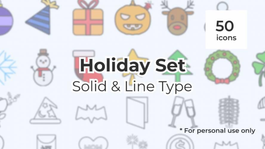 Eikon Project |  Holiday Pack free figma icon set