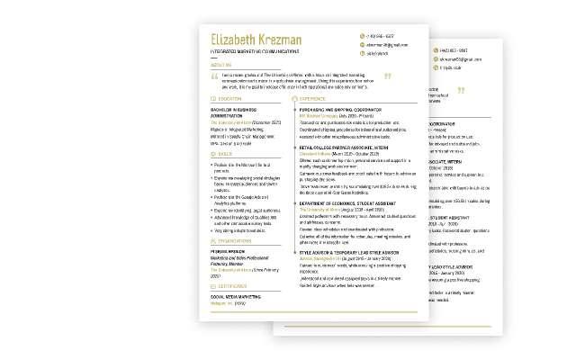 EK resume figma template