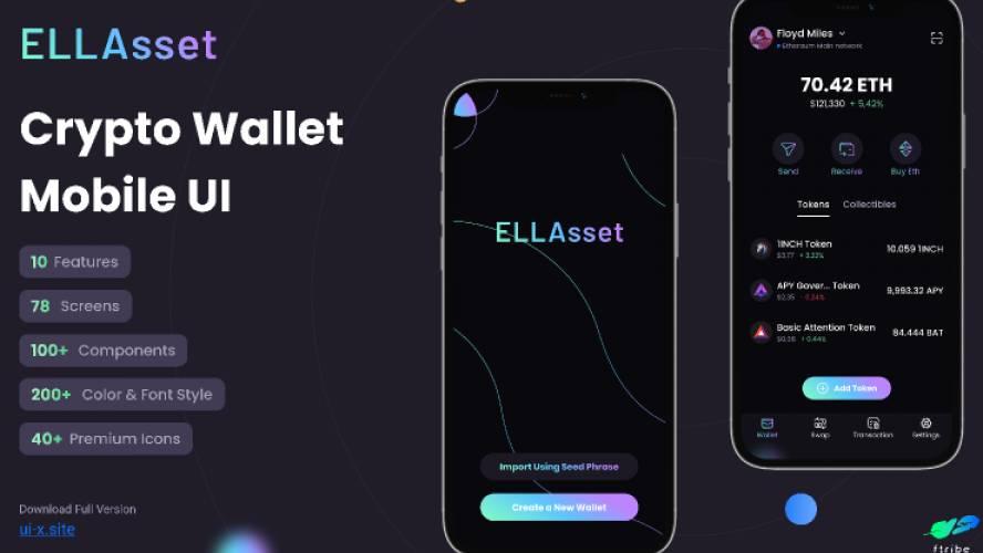 ELLAsset - Crypto Wallet Mobile UI figma