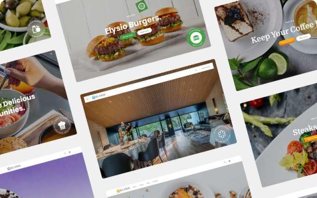 Elysio Food - Website Hero Sections + Headers