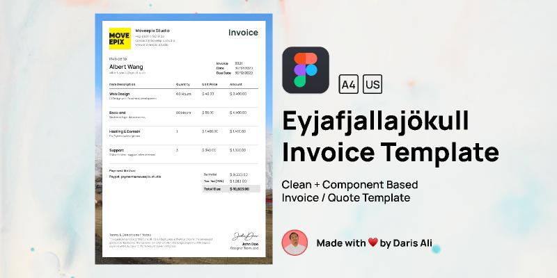 Eyjafjallajökull Invoice Template