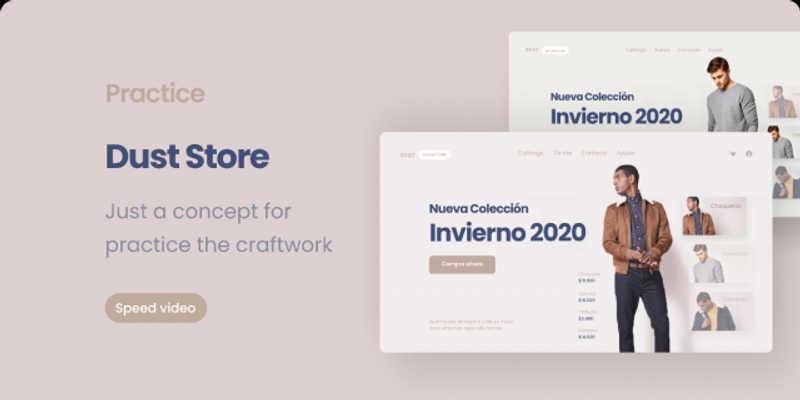 Fashion Web UI Design - Dust Figma Free