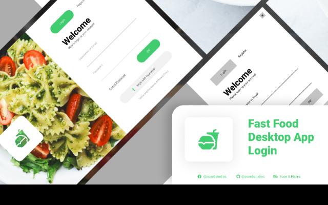 Fast Food Desktop App Login Figma