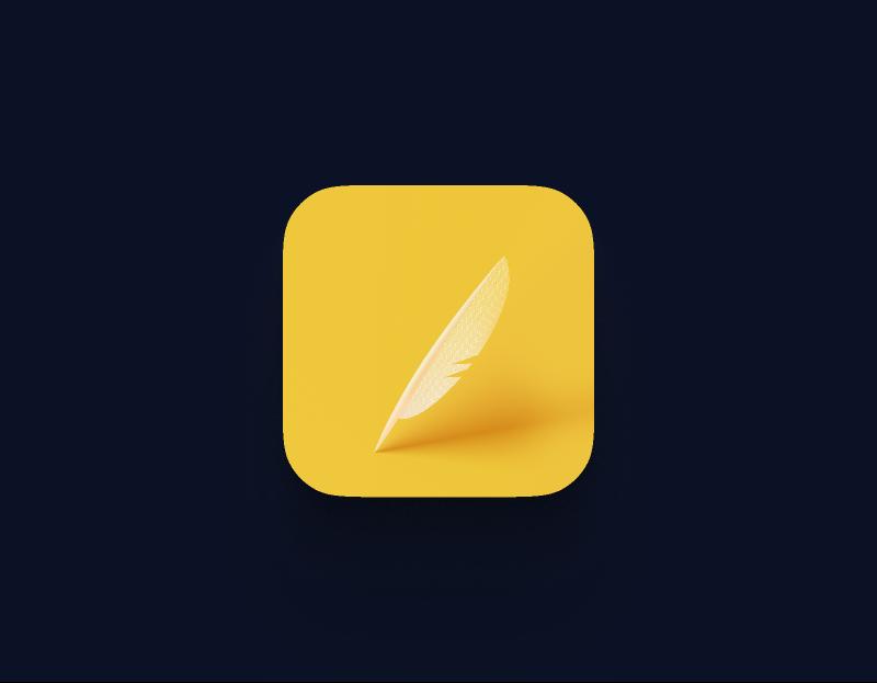 Feather icon design