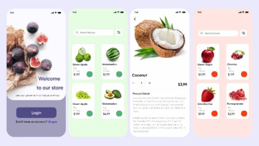 Figi Food App UI Kit Figma Freebie