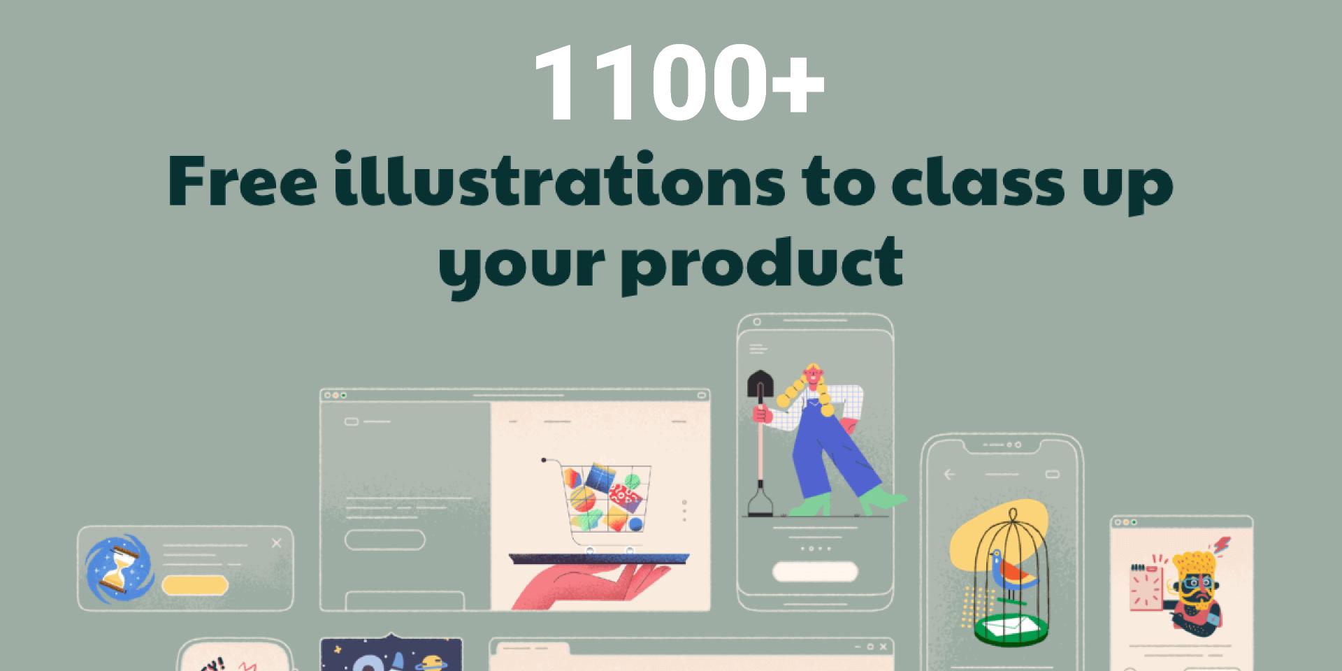 Figma 1100+ Free Vector Illustrations