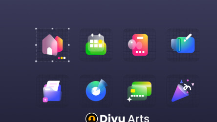 Figma 3D Glass - Icons With Grid