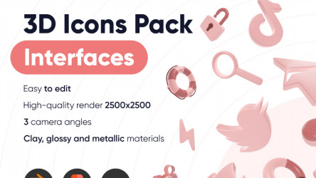 Figma 3D Icons Pack Interface Free Download