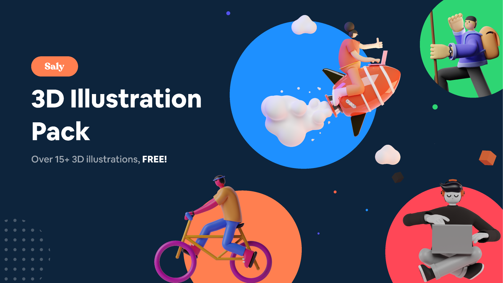 Figma 3D Illustration Pack (SALY)