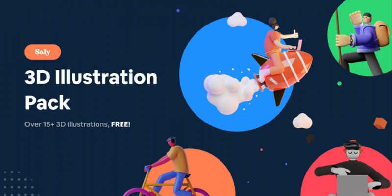 Figma 3D Illustration Pack (SALY)