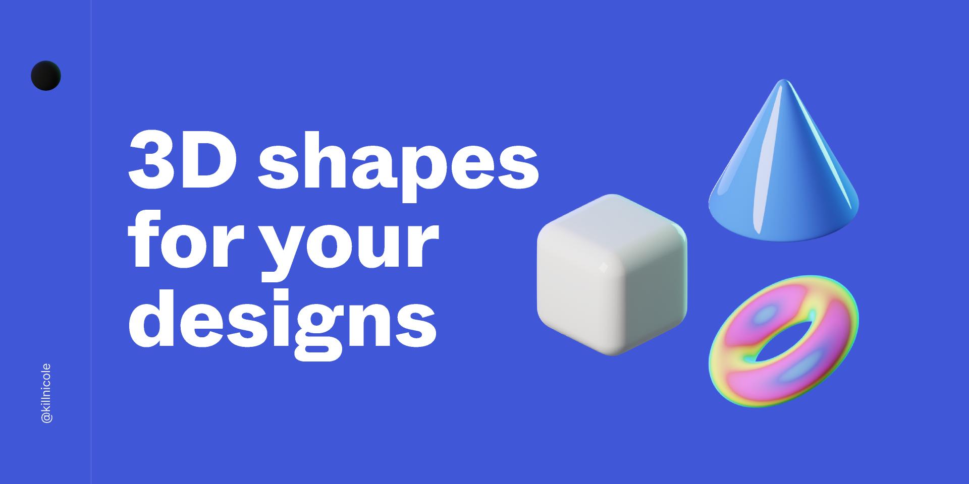Figma 3D shapes