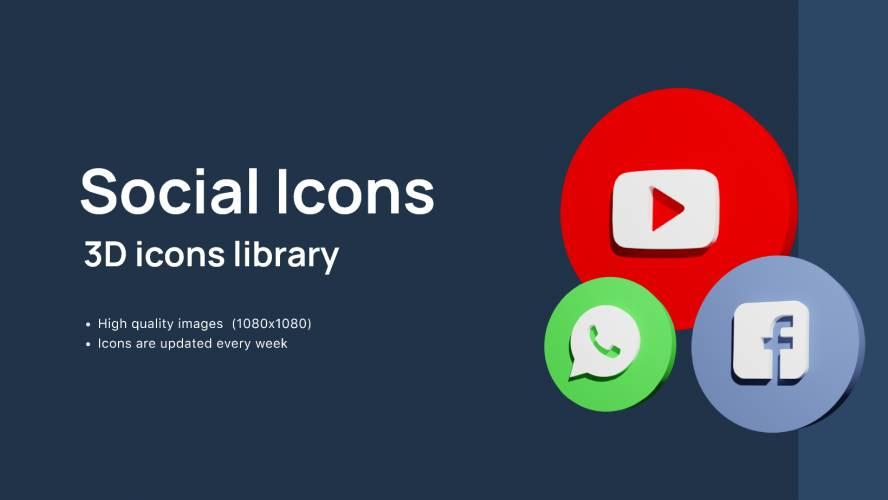 Figma 3D Social Icons