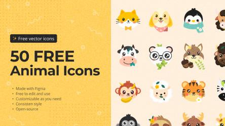 Figma 50 free animal icons