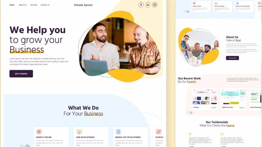 Figma Agency Landing Page