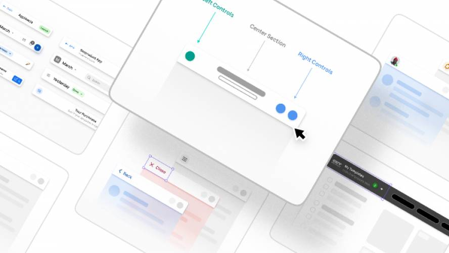 Figma App Bar UI design guidelines