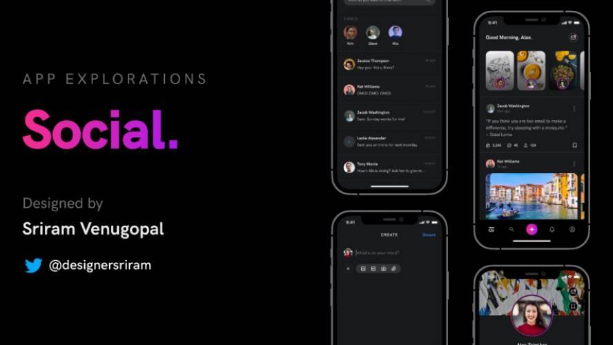 Figma App Explorations Social Free Download