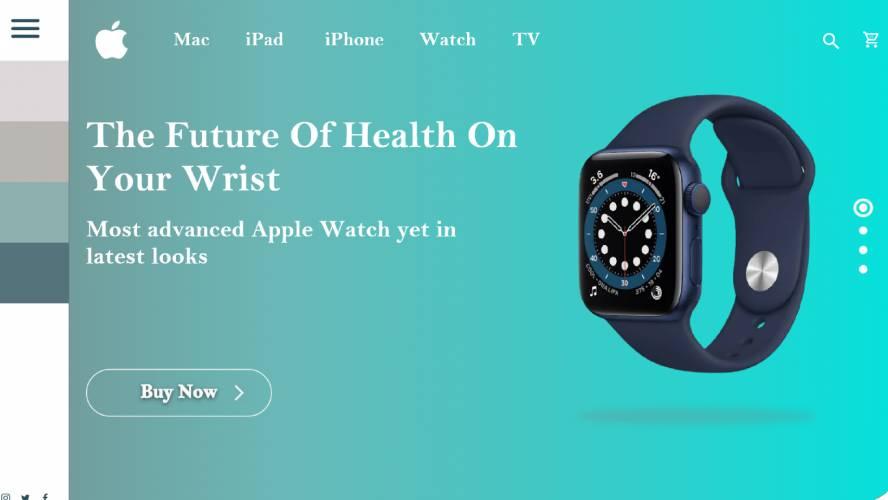 Figma Apple Watch Landing Page Prototype Free Download