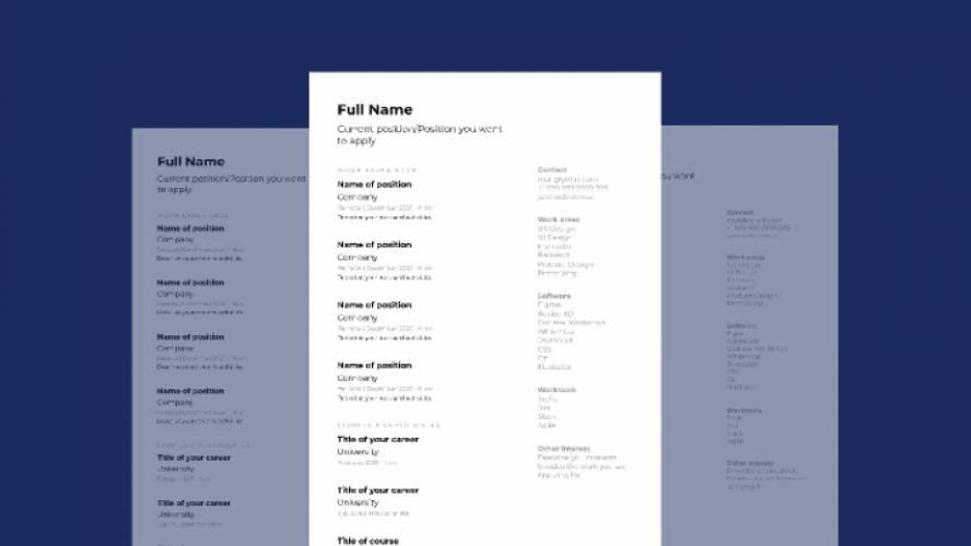 Figma Autolayout CV template