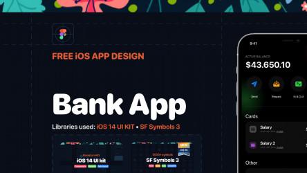 Figma Bank App - iOS App design Template