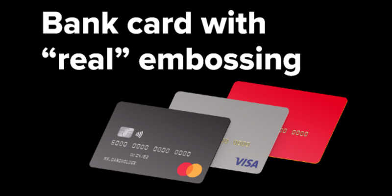 """Figma Bank card with """"real"""" embossing Template"""