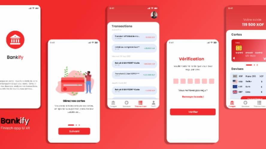 Figma Bankify: UI kits for banking app free