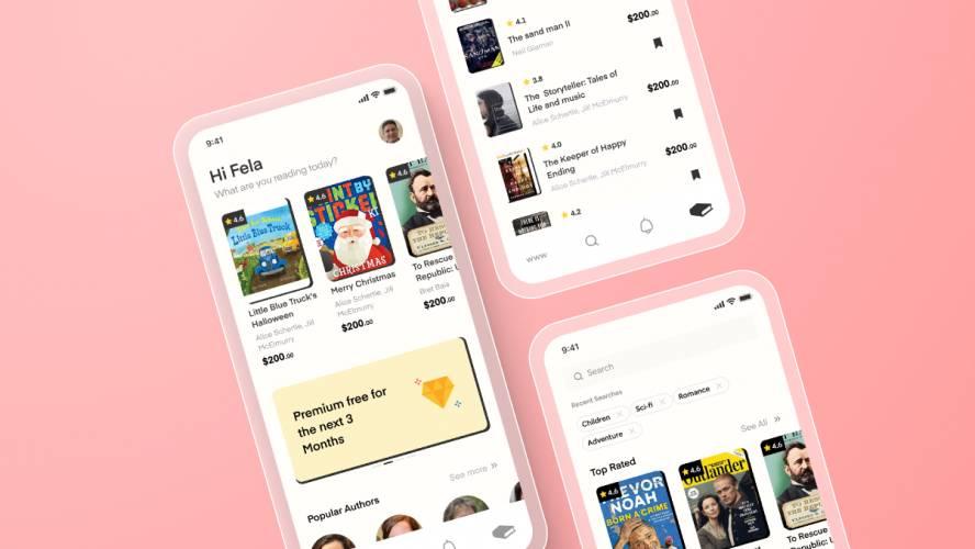 Figma Book App Template