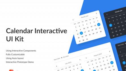 Figma Calendar Interactive UI Kit