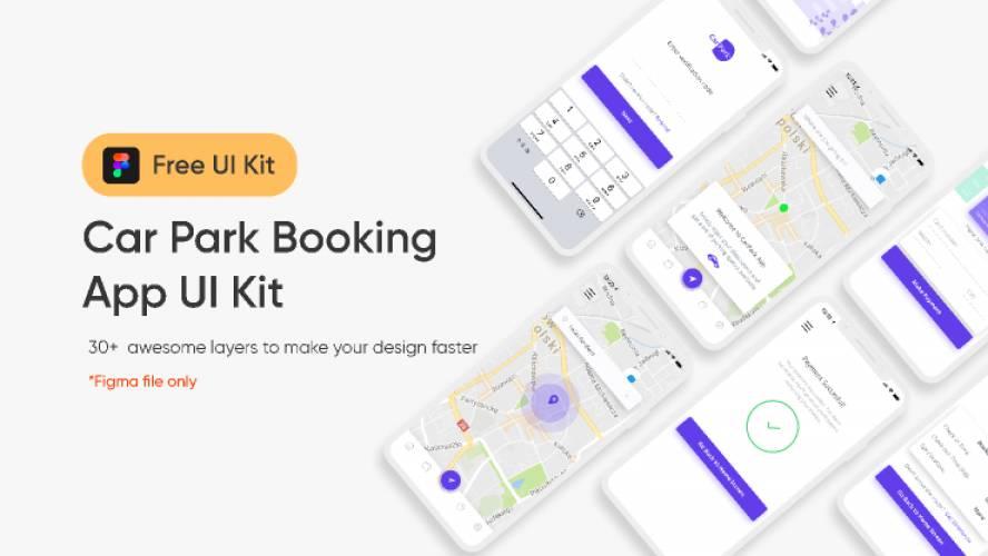 Figma Car Park Booking App UI Kit