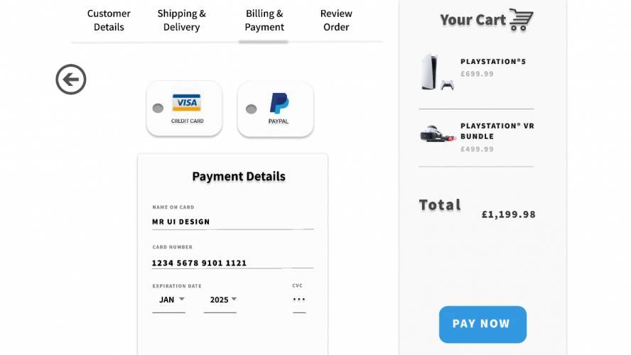 Figma Checkout Page Template
