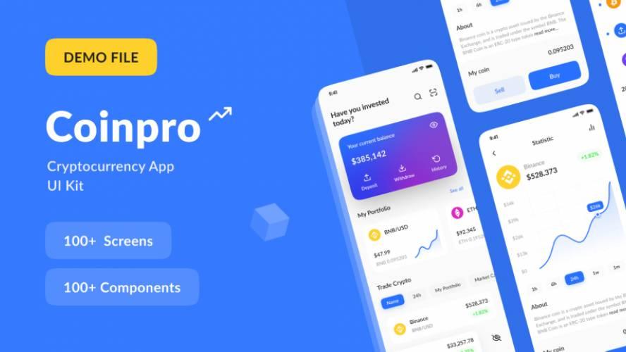 Figma Coinpro UI Kit Template