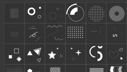 Figma Confetti Ornaments and Patterns for Social Media Post