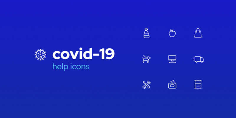 Figma COVID-19 Icons Help pack