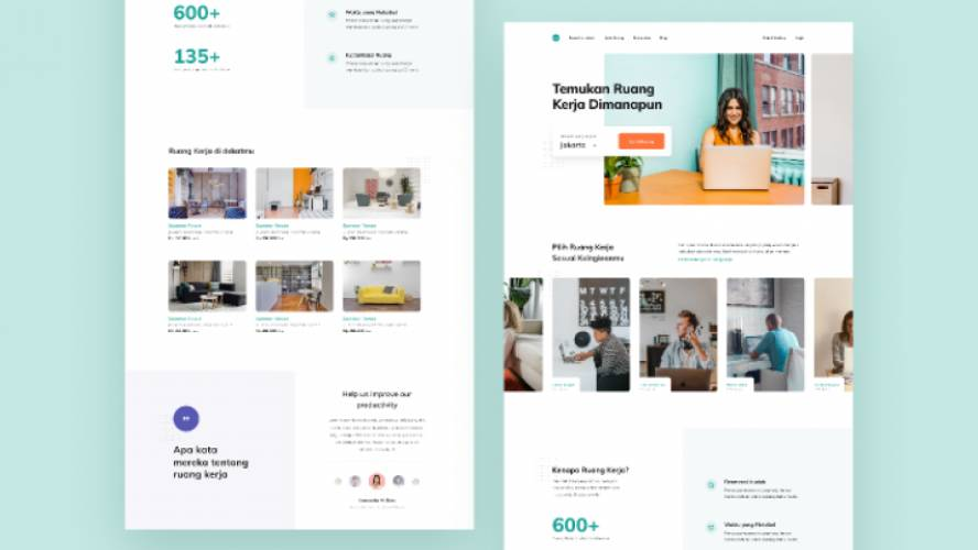 Figma Coworking Space Landing Page