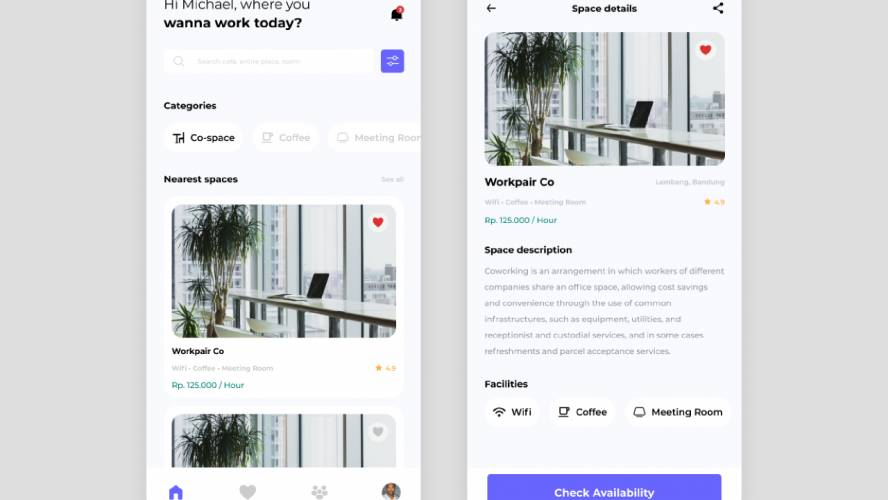 Figma Coworking Space Template
