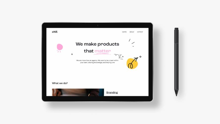 Figma Creative agency website template